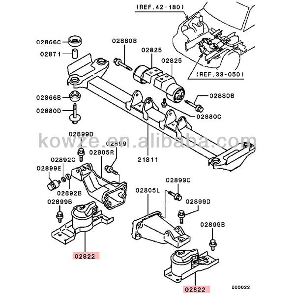 Engine Mounting Cushion For Mitsubishi L200 Pajero Montero