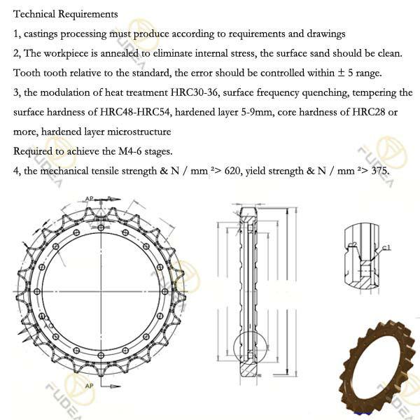 Excavator Drive Sprocket Low Price Sprocket Wheel Hitachi
