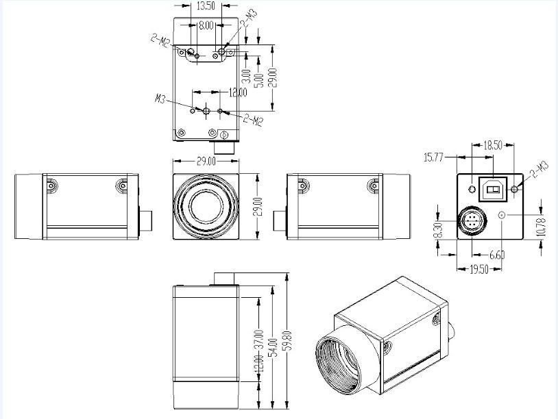 EX360CS Machine Vision Best Quality Cheap USB Camera, View
