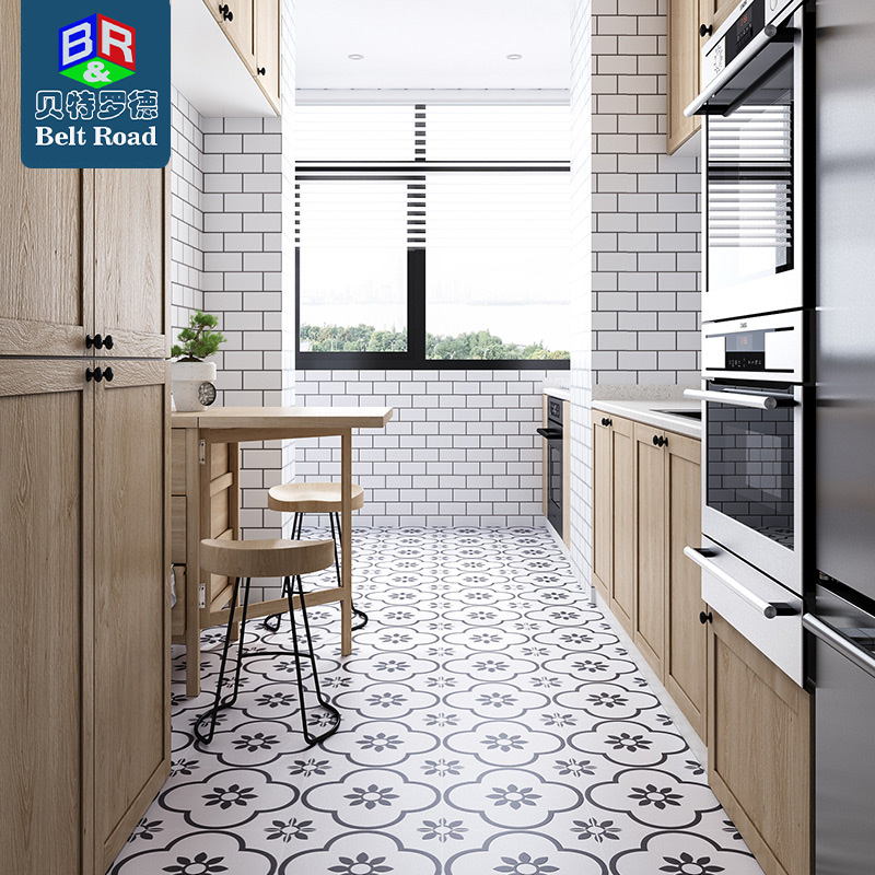 nordic ins black and white small tile 300x300 kitchen bathroom balcony wall floor tile buy small tiles kitchen tiles cheap moroccan floor tiles