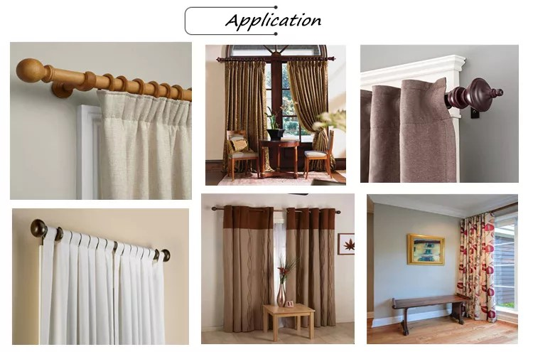 hot sale curtain rod set wood poles cheap living room bedroom window curtains rods home wooden curtain rod sets buy wood home furniture fancy
