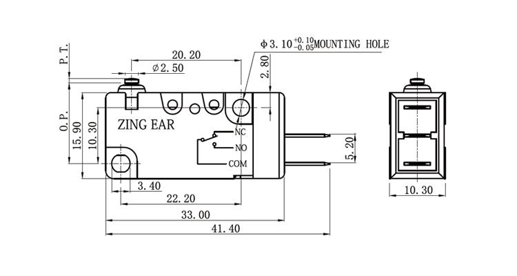 Waterproof Micro Swich Microswitch,Enec Micro Switch T85