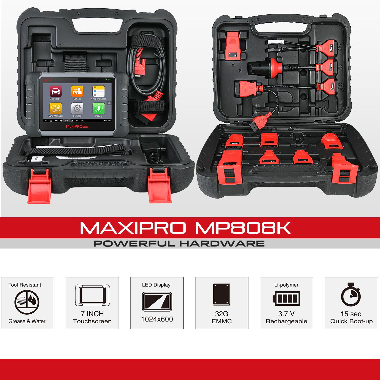 autel autel maxipro mp808k outil de diagnostic de voiture scanner obd2 avec controle bidirectionnel pour codage de cle version 2020 buy outils de