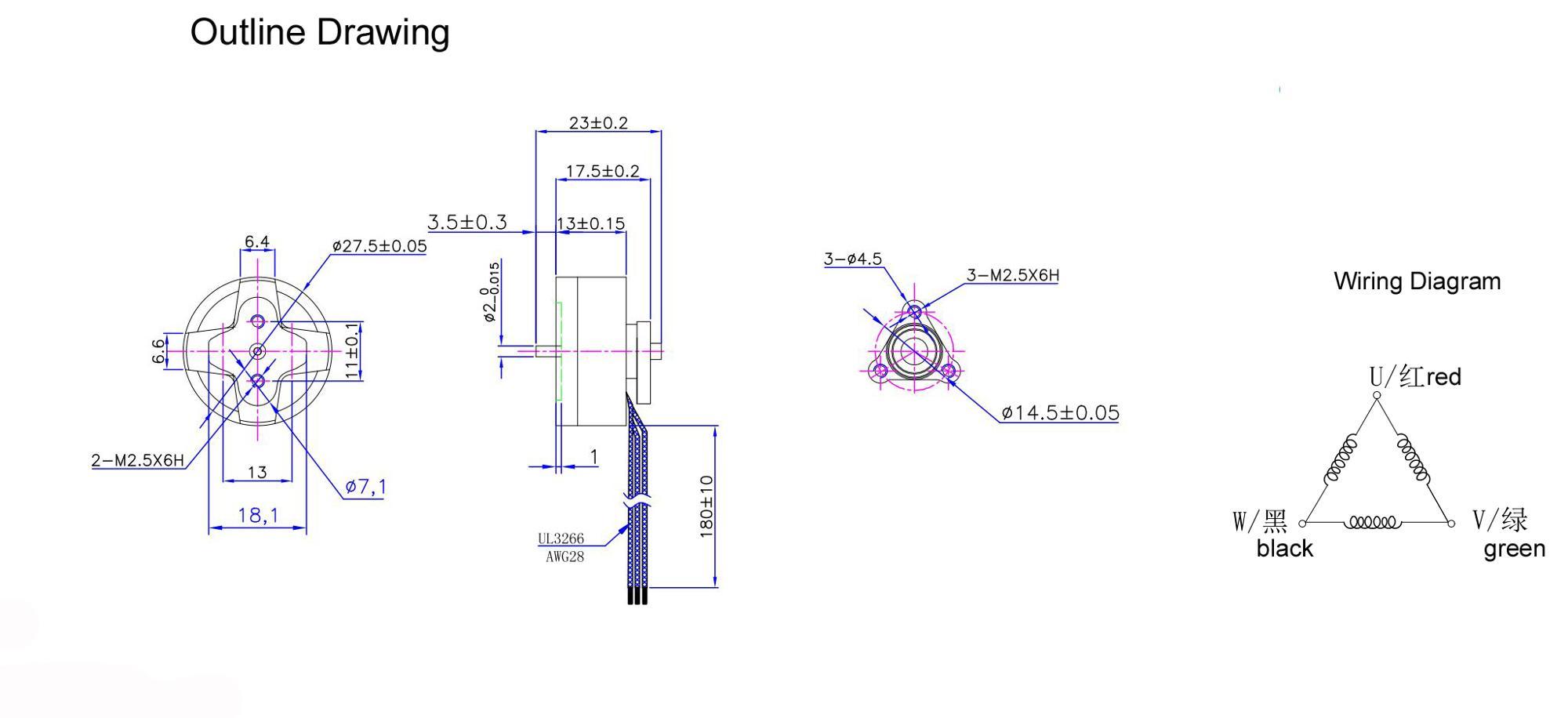 Hochwertiger Motor Für Drohne 3 Phase 27 Bldc 10000 U/min