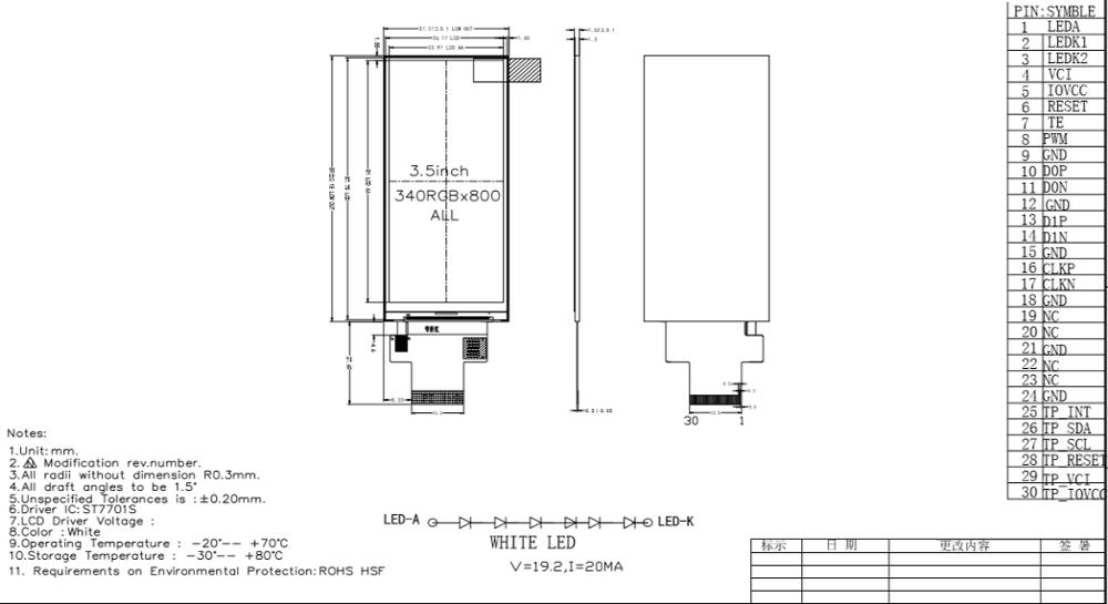 340*800 Dots Bar Type Tft Lcd 3.5 Inch Mipi Dsi Interface Lcd Display - Buy Bar Type Tft Lcd.3.5 Inch Mipi Dsi Interface Lcd Display.3.5 Inch Lcd ...