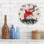 Japan Japanese Sakura Tree Landscape Oriental Picture Red Wall Clock For Kitchen Buy Oriental Wall Clock Wall Clock Picture Large Red Wall Clock Product On Alibaba Com