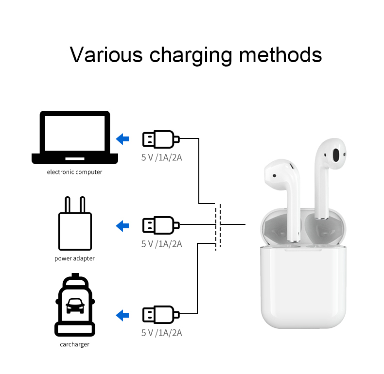 New Arrival Wireless Charging Tws I18 Wireless Earphone