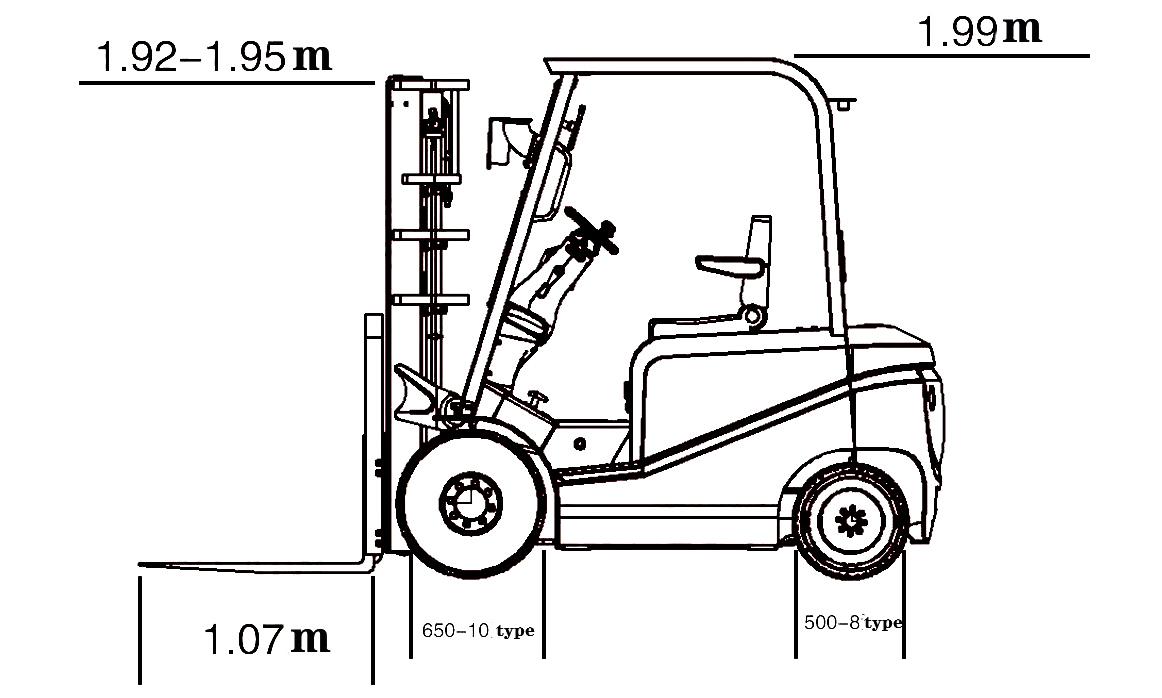 Komatsu Forklift Portable Manual Hydraulic Forklift 2ton