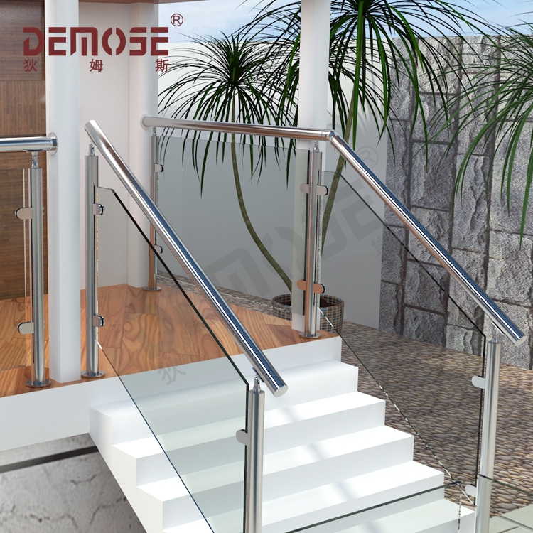 Stair Railing Kits Interior Steps Railing Designs Glass Panel | Stairs Railing Design In Glass | Indoor Home Depot | Fancy | Painting | Modern | Interior Residential Metal
