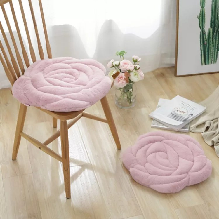 christmas decoration rose shaped chair pads square chair cushion soft thicken seat pads cushion pillow for office sofa bedroom buy decorative chair