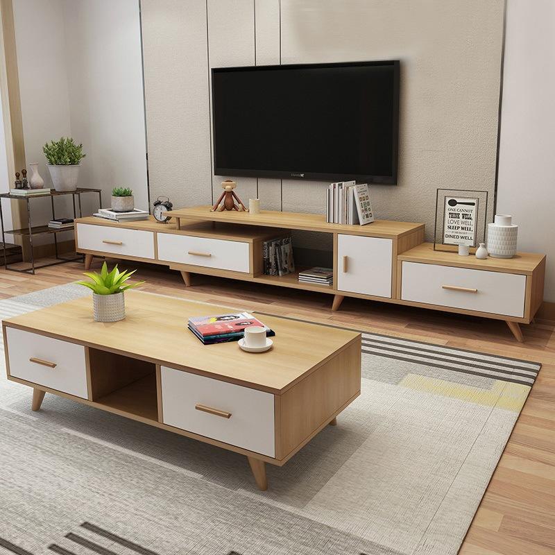 panneau en contreplaque mdf ensemble de rangement en bois de style moderne pour salon table basse meuble tv 1 piece buy le stockage de style moderne
