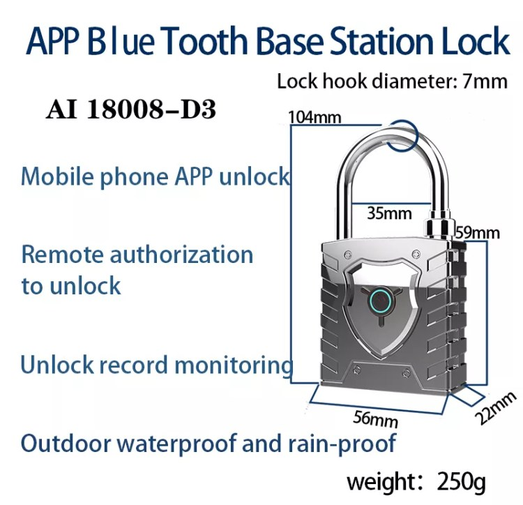 Best Quality Smart Padlocks, Application Smart Locks,fingerprint padlock bluetooth smart
