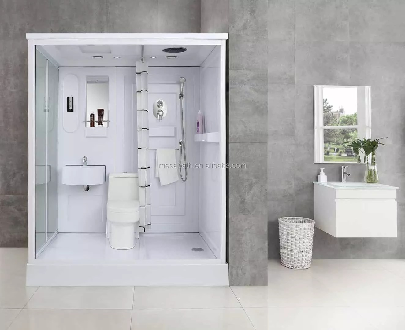 portable shower toilet sink shower head combo abs tempered glass shower cabin buy shower sink combo shower head combo toilet vanity combo product on