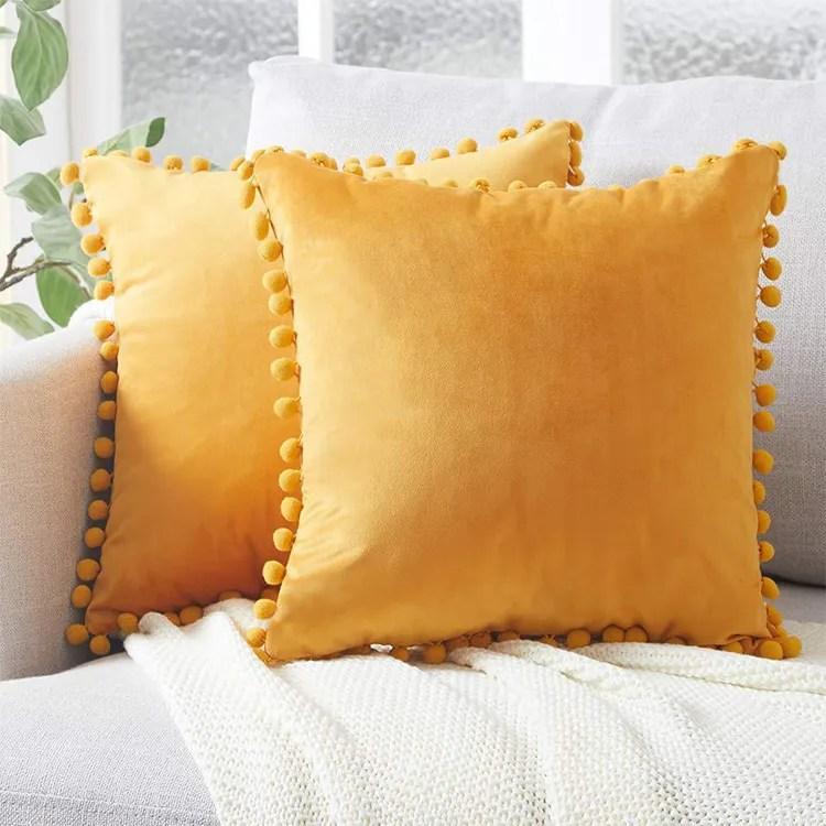 wholesale velvet pom pom cushion cover velvet pom pom throw pillow cover pompom cushion covers decorative buy pom pom cushion cover pom pom throw