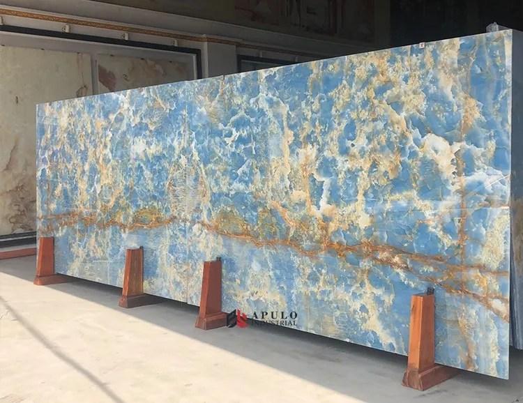 roma marble stone tile brazilian marble slab golden sky blue honey onyx iran backlit ice ocean gold vein light in blue slab buy luxury river vein