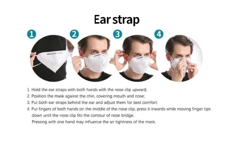 Factory wholesale kn95 Face mask 5 ply Non-woven Protective Disposable