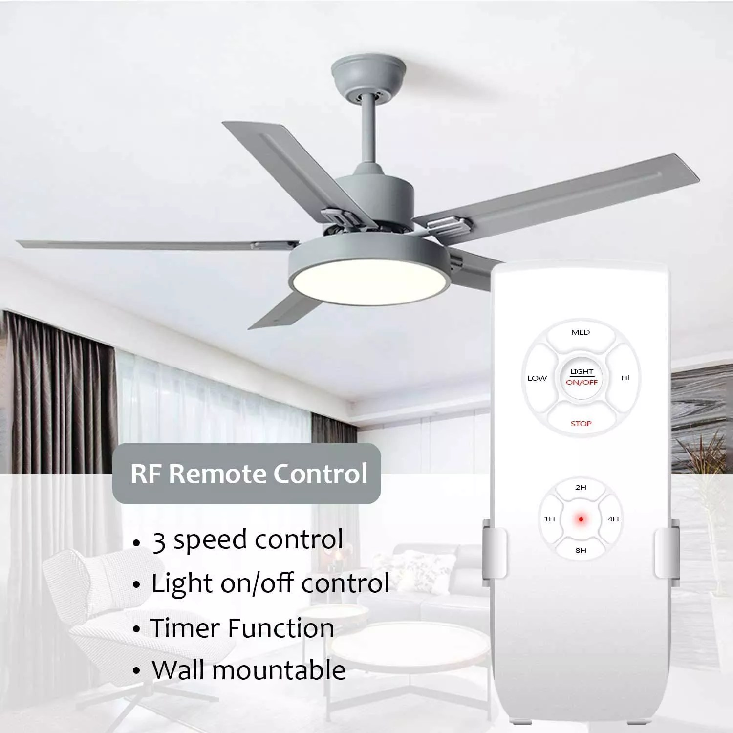 wifi smart ceiling fan light controller kit rf app remote control for ceiling fan compatible with alexa and google home assist buy remote control