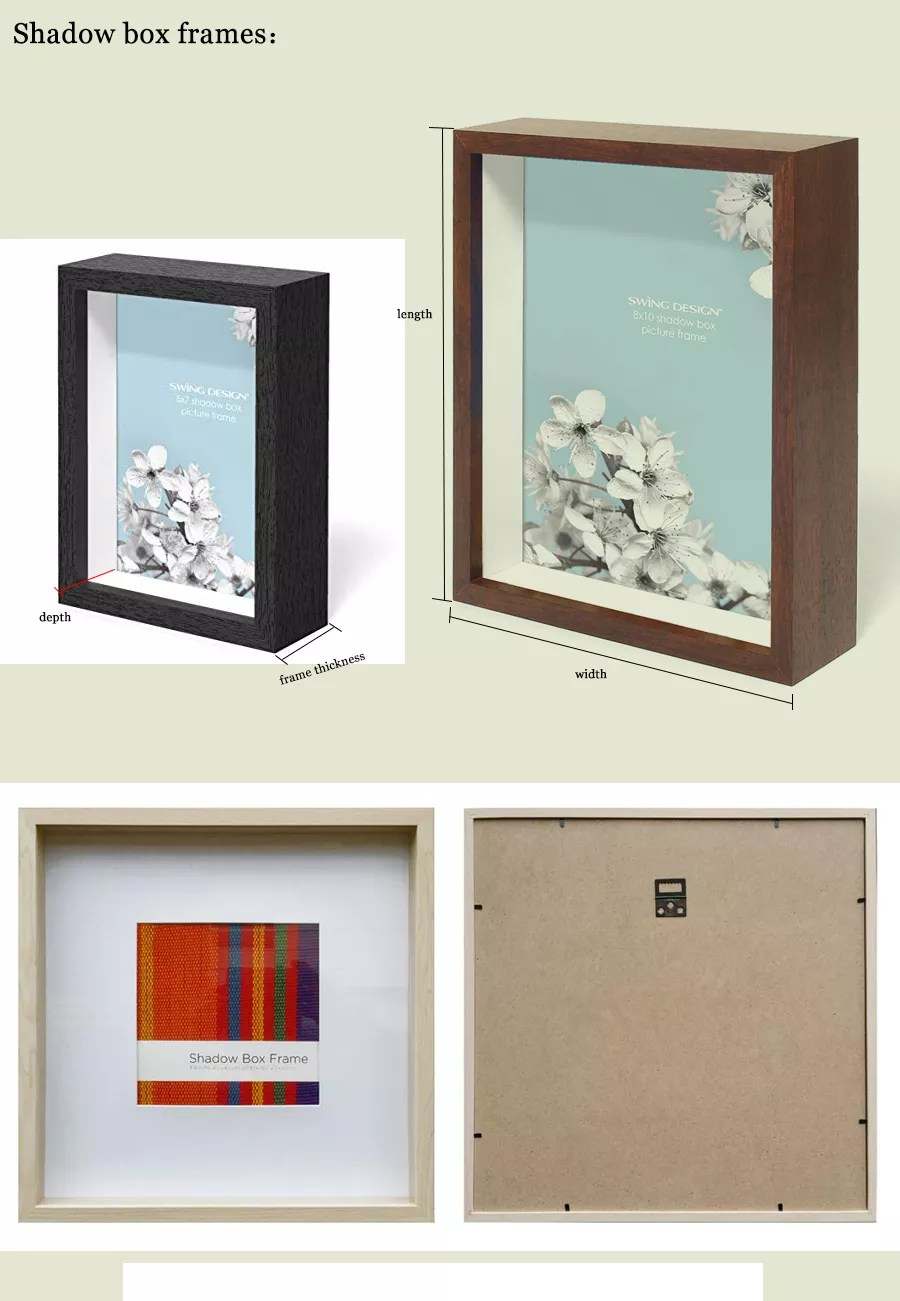 nature solid wooden picture frame a4 a3