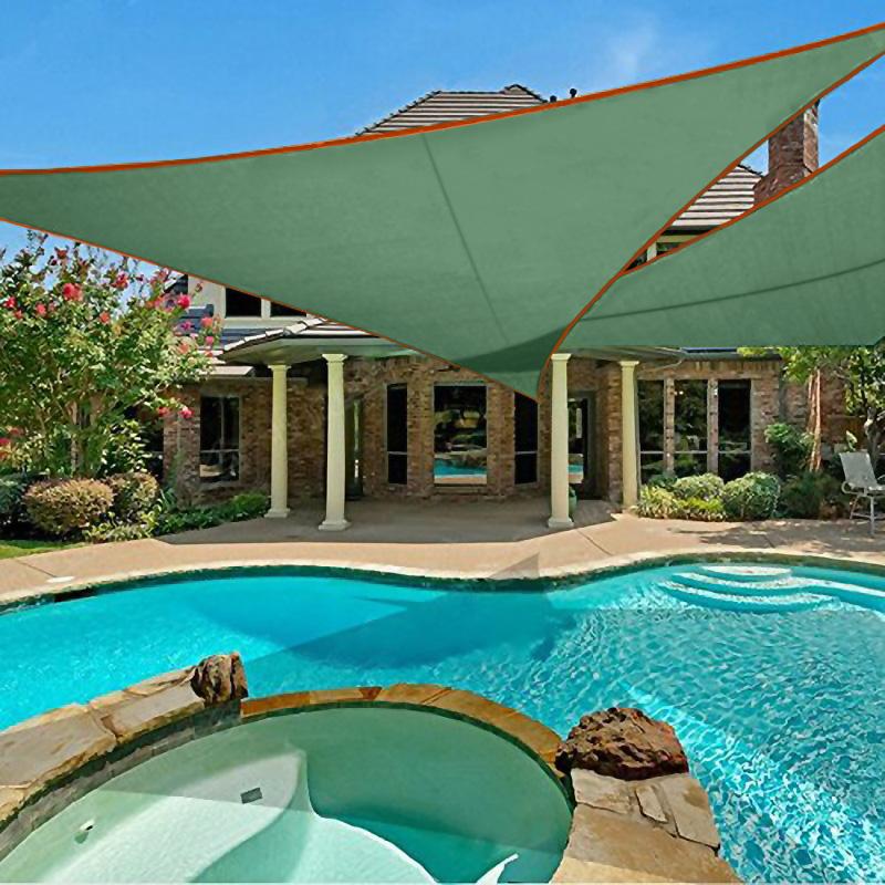triangle waterproof shade sail canopy for outdoor garden patio pool anti uv awning tarp buy garden awning tarp sunshade protection awning