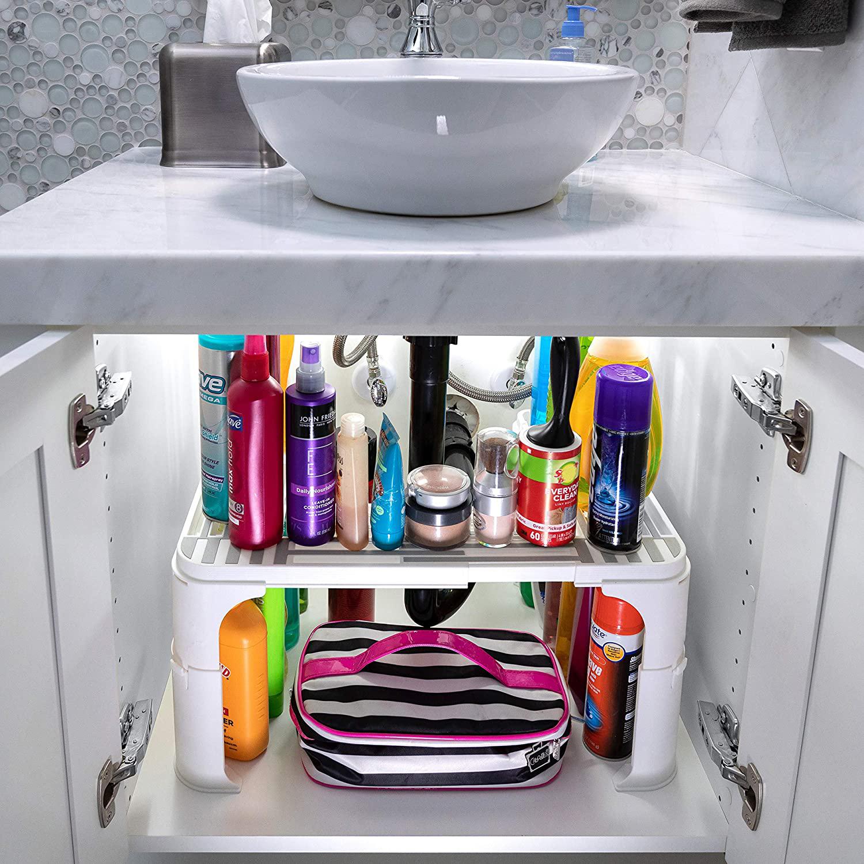 under sink organizer and storage bathroom under the sink organizer kitchen under sink shelf expandable height depth width buy under sink