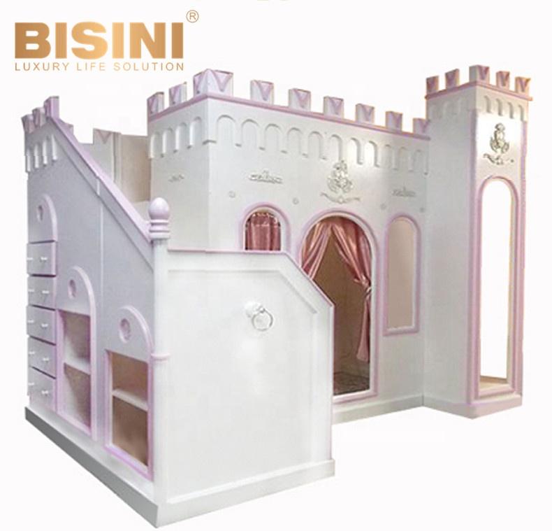 lit superpose en bois pour enfants sur mesure cabine de princesse avec bibliotheque buy lit superpose en bois de chateau lit de cabine de princesse