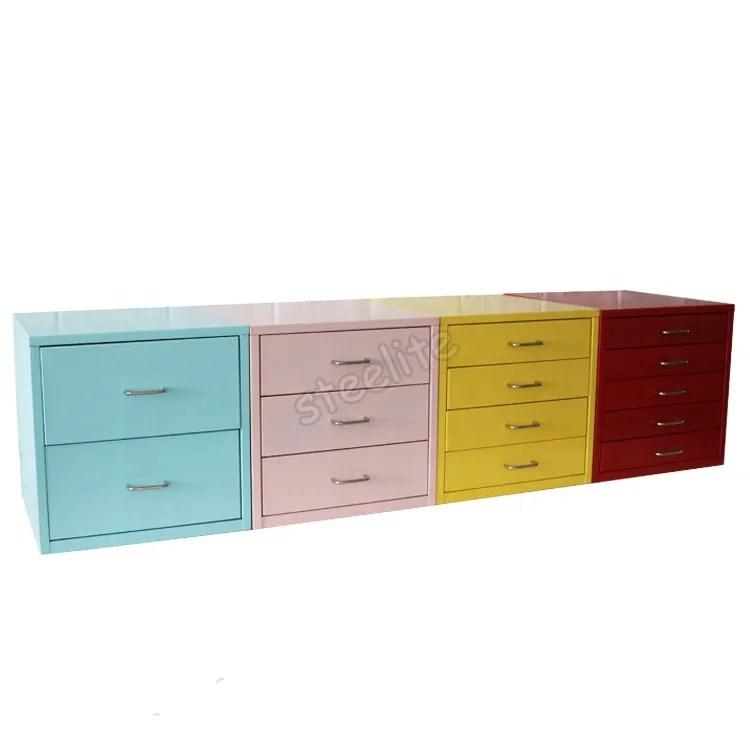 mini deux tiroir carre armoire brillant colore 2 tiroirs en metal classeur deux niveaux petit meuble de rangement sur le bureau buy armoire de