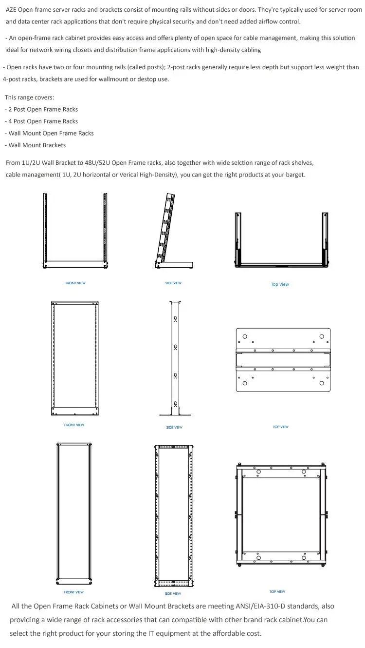 13u aluminum alloy open rack network cabinet 19 inch 2 post open server racks buy 19 inch open rack network cabinet 2 post aluminum frame rack 19