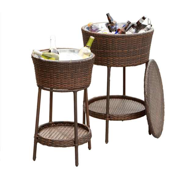 party outdoor deck yard pool patio wine table cooler rattan drink cooler rattan patio cooler bar table buy rattan terrasse kuhler tisch rattan