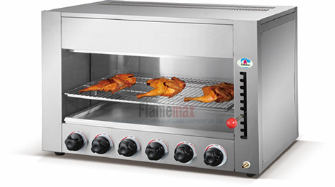 kitchen salamander small island hgs 747 stainless steel gas infrared grill for sale made in china