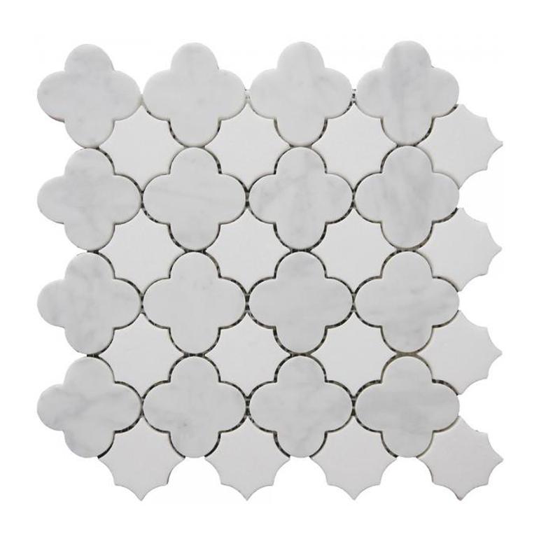 marbre japonais carrera blanc motif