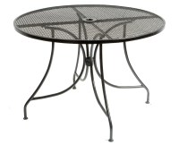 Metal Mesh Dining Round Table and Chairs Outdoor Furniture ...