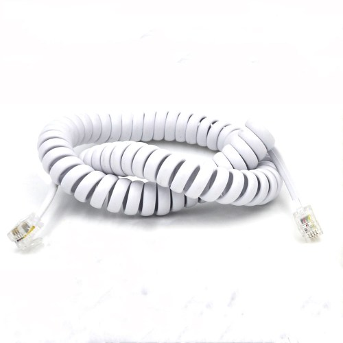 small resolution of elastic fibre wire telephone spring cable with 4p4c modular plug rj11 slingshot cord