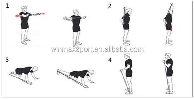 Pilates Band Exercises,Latex Chest Expander,Latex Tubing