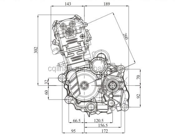 Water Cooled Cb250 4 Valve 250cc Zongshen Engine For Atv