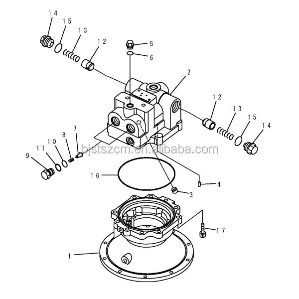 Pc300-7 Swing Motor Spare Parts 706-7k-01070 Excavator