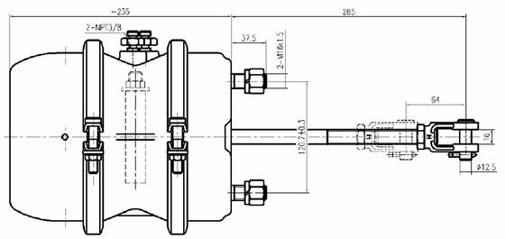 Saf Trailer Air Brake System Single/double Brake Chamber