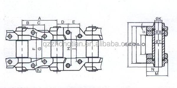 Komatsu Bulldozer Master Link Lubrication Track Chain