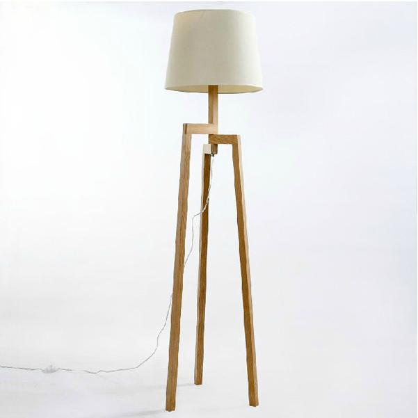 Modern Wooden Living Room Floor Standing Lamp  Buy Floor