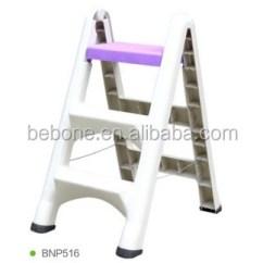 Folding Kitchen Step Stool Undermount Sinks Stainless Steel Plastic Ladder For Garden ...