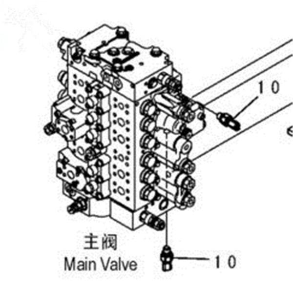 Excavator Control Valve,Hydraulic Valve For Excavator Pc75