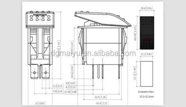 12v wiring diagram for rocker switch panel