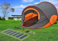 22w Camping Orange Solar Power Tent For Sale - Buy Solar ...