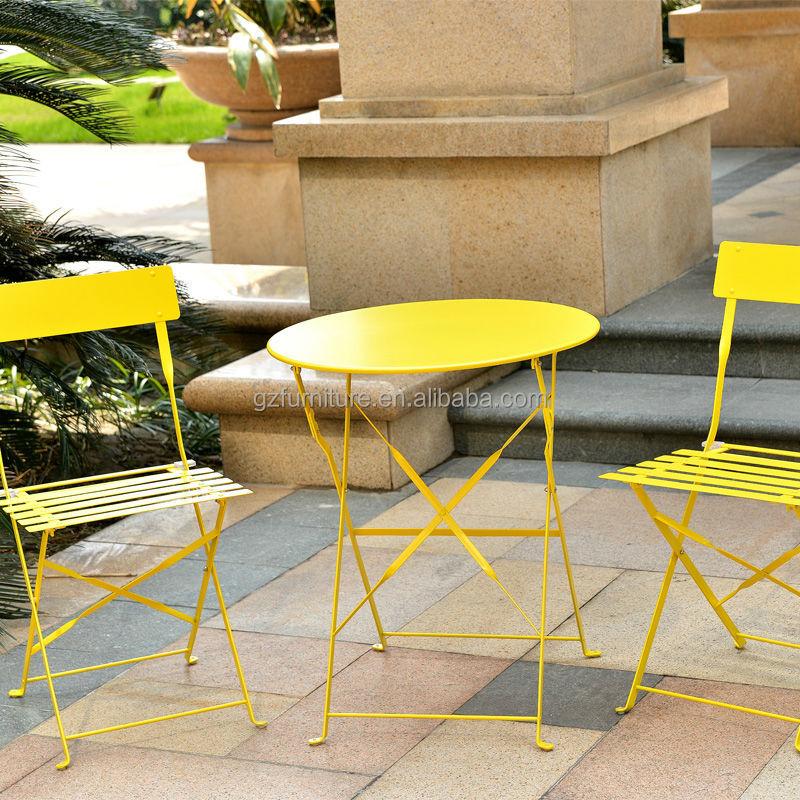 metal bistro chairs rattan arm portable folding 3 piece garden furniture set - buy ...