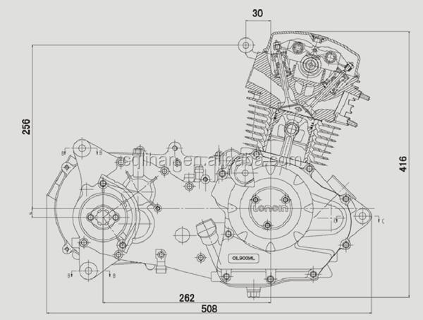 Loncin CVT150 150cc air-cooled ATV engine, View ATV engine