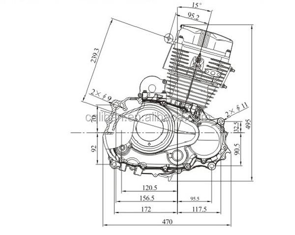 4 stroke CB125D-B 125cc zongshen engine with balance shaft