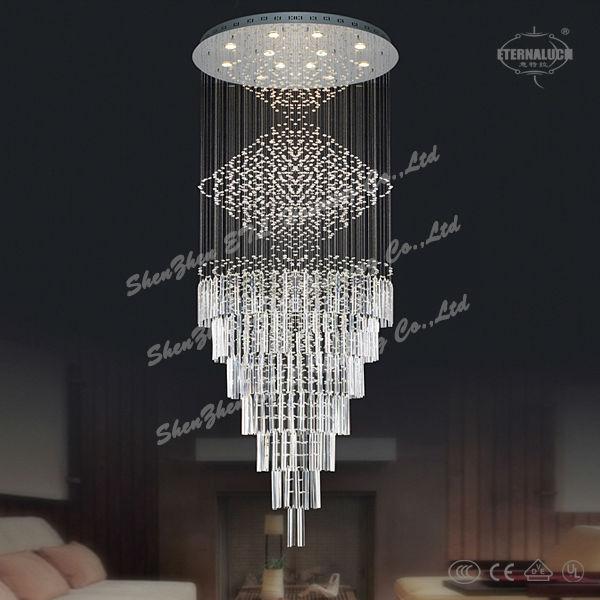 Newest Modern Heart Shape Crystal Chandelier Lightings For Germany Etl82105