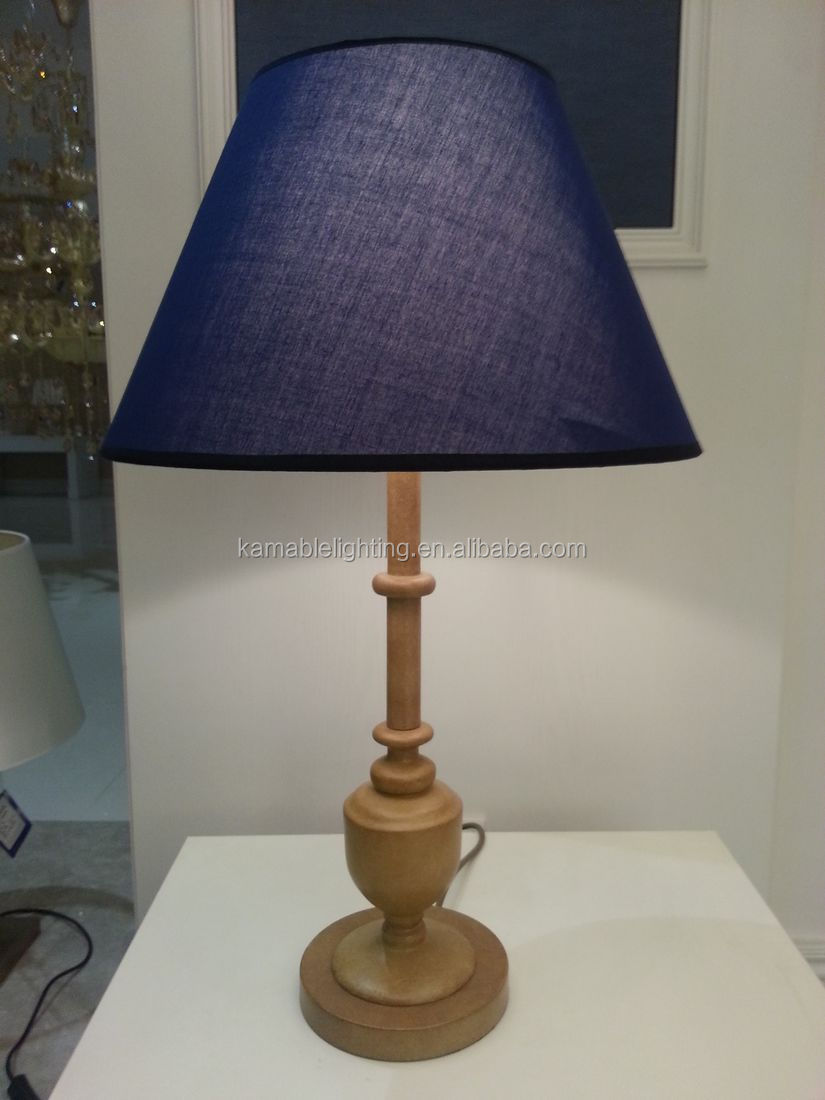 Elegance Power Outlets Hotel Table Lamps With Wood Base