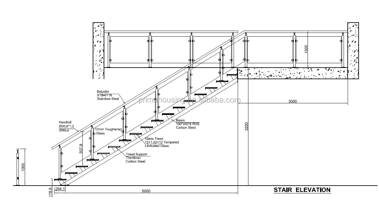 Fancy Indoor Solid Wood Open Riser Staircase Designs(pr