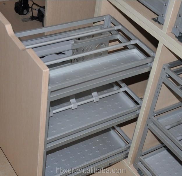 Kitchen Cabinet Aluminum Drawer Basket Aluminium Profile