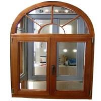 Walnuts Color Arch Window Grill Design Half Moon Windows ...